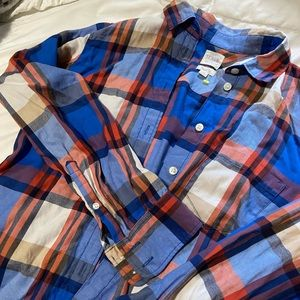 J. Crew plaid shirt perfect for fall size small